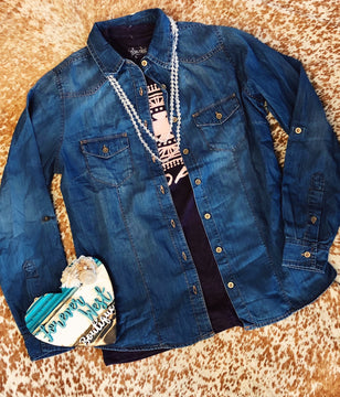 Can't Go Wrong Chambray Shirt