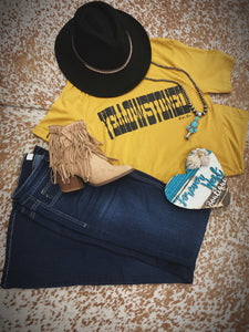 Yellowstoned Tee