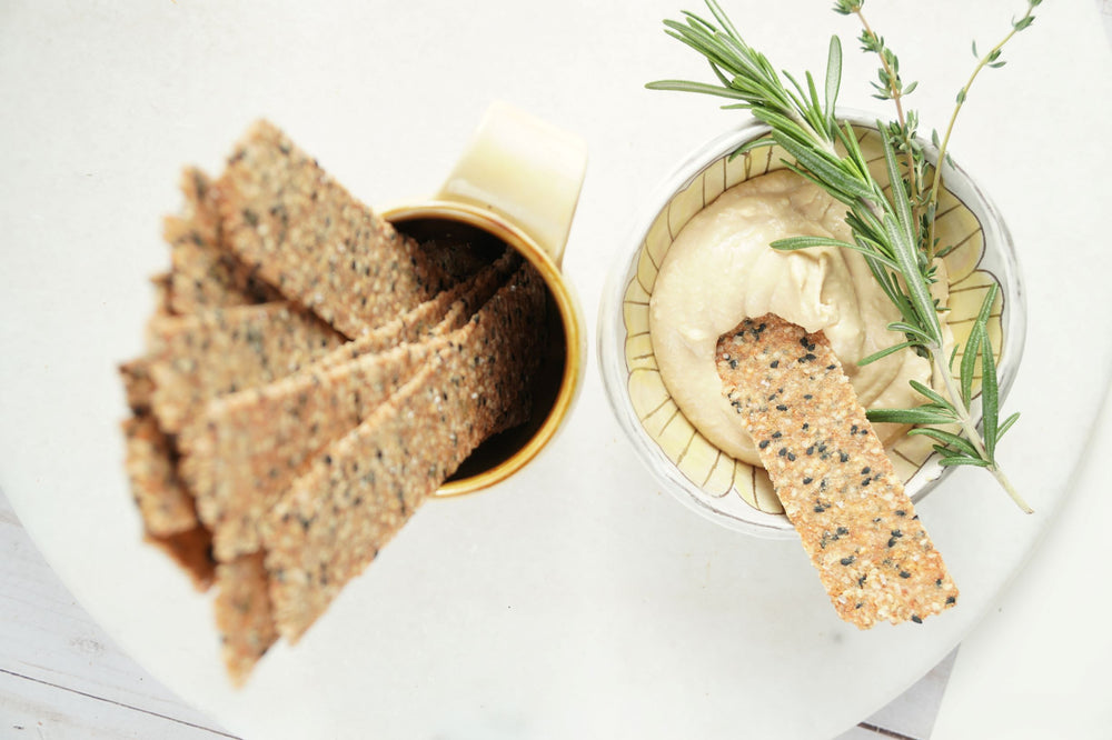 Sesame Swing Quinoa Crackers