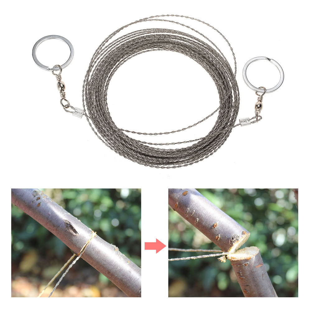 Wire Saw Camping Hiking Survival Saw Outdoor Survival Tool Kit Survival Gear Portable Rescue Saw 10m