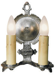 Double Pewter Interior Sconce