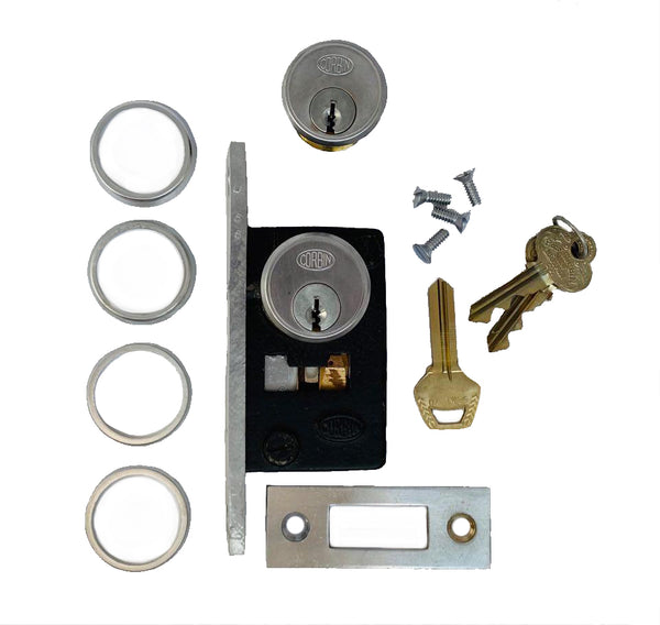 Narrow backset mortise lock