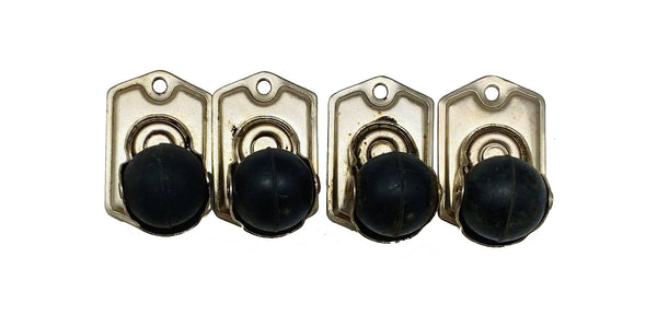 Set of 4 Surface Mounted Casters
