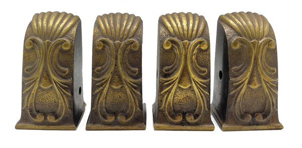Set of 4 Cast Brass Table Feet