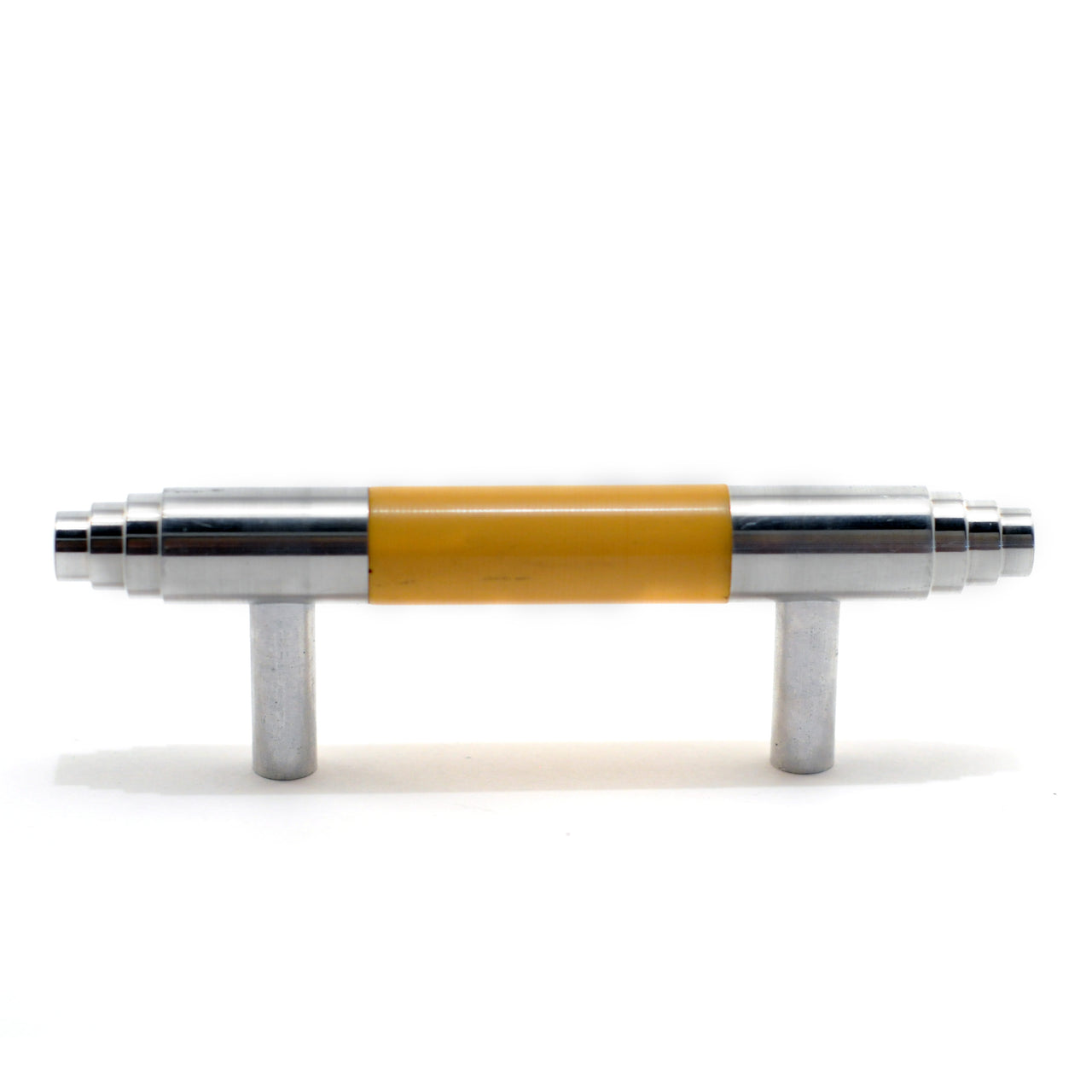 Yellow Bakelite & Aluminum Cabinet Handle