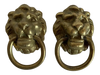Vintage Lion Head Single Hole Drop Pulls - Pair