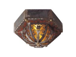 Iron & Mica Light Fixture
