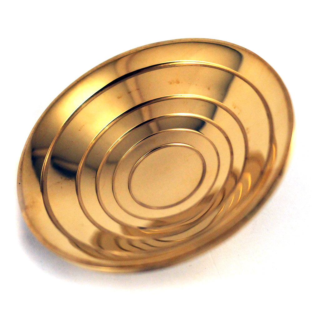 Polished Brass Concentric Door Pull