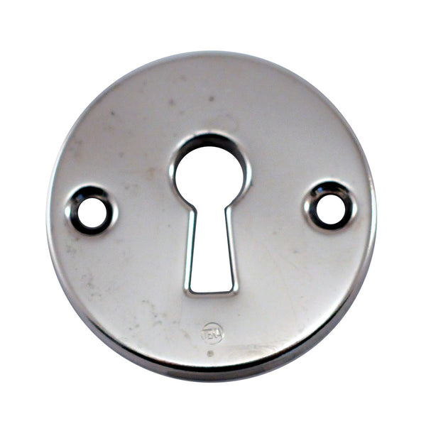 Round Nickel Keyhole Cover