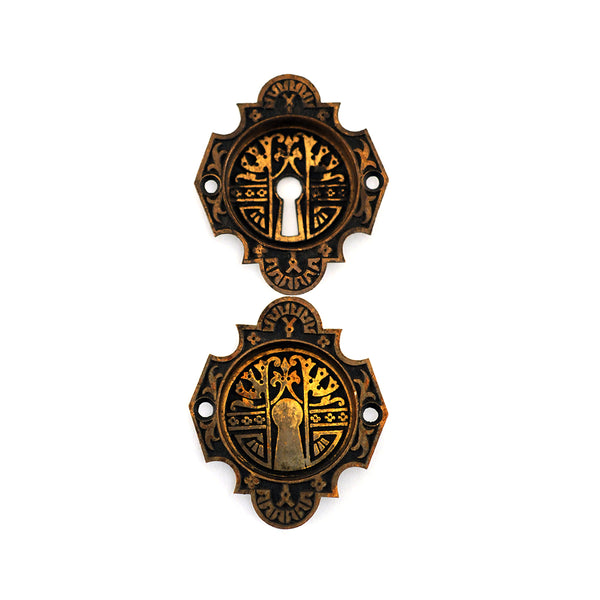 Black & Brass Pocket Door Pull (Set)