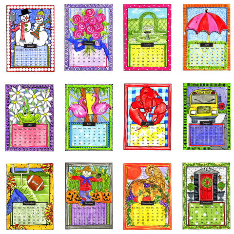 *Preorder for Late Sept Ship Date* 2021 Desk Calendar with Frame