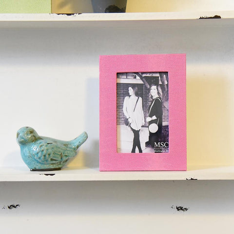 "Lifestyle photo of Pink 4"" x 6"" Lizard Frame"