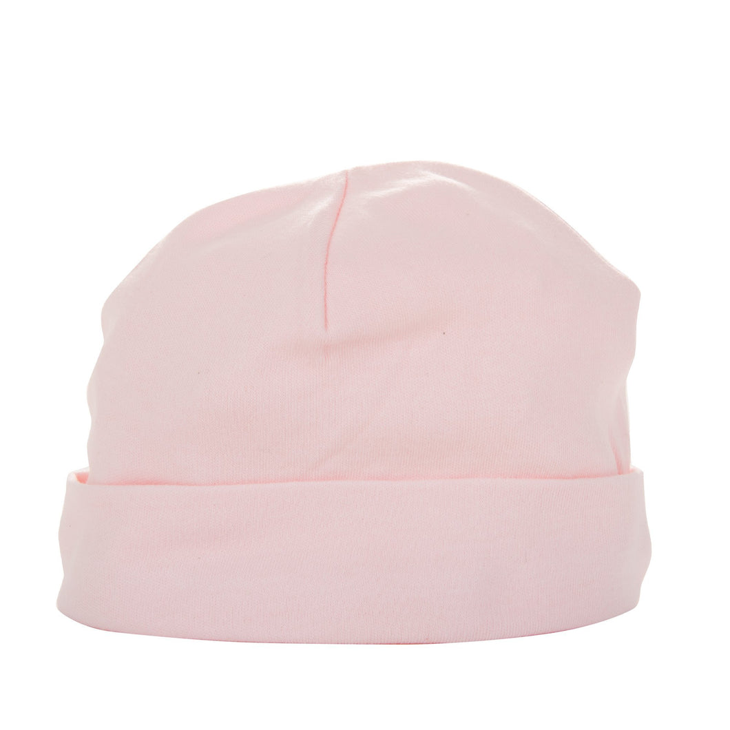 Front view of our Light Pink Baby Beanie