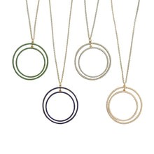 Load image into Gallery viewer, Front view of our Bead Circle Necklaces