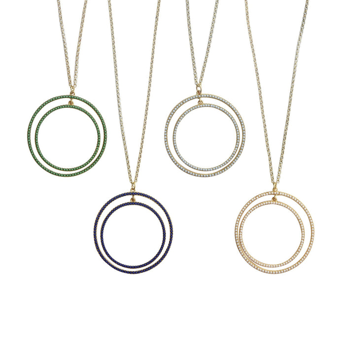 Front view of our Bead Circle Necklaces