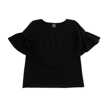 Load image into Gallery viewer, Front view of our Black Bell Sleeve Shirt