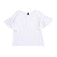 Load image into Gallery viewer, Front view of our White Bell Sleeve Shirt