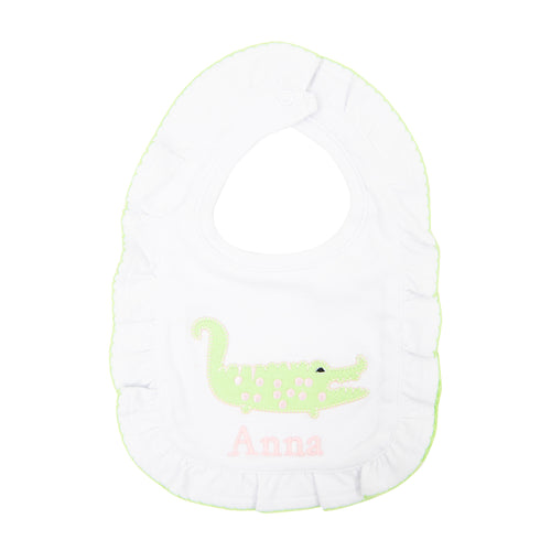 Alligator Ruffle Bib