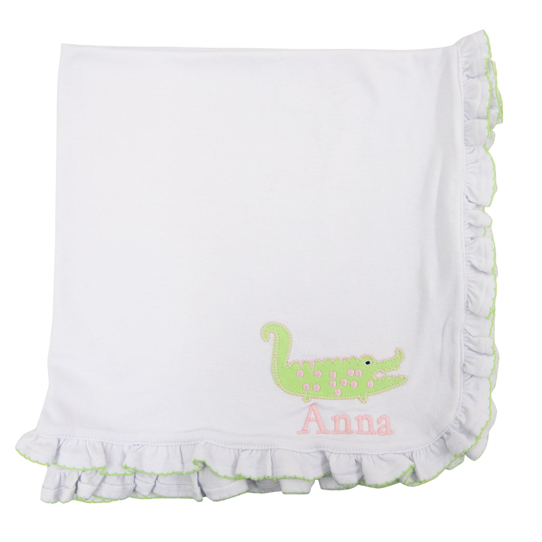 Alligator Ruffle Blanket