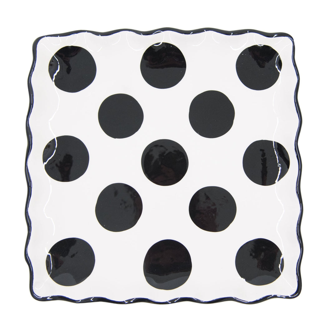 Top view of our Black Dot Dinner Plate