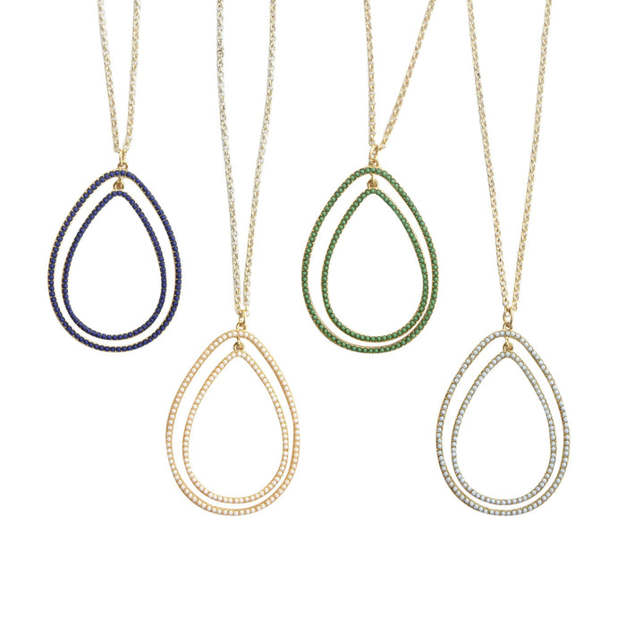 Front view of our Bead Teardrop Necklaces