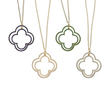 Load image into Gallery viewer, Front view of our Bead Clover Necklaces