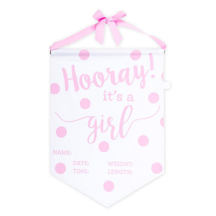 Pink Hooray It's a Girl Baby Banner
