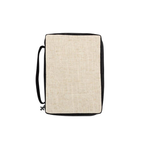 Monogrammed Linen Bible Carrier