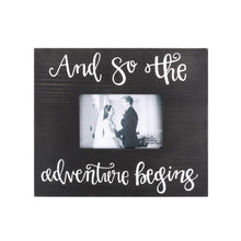 "Bridal Wooden Picture Frame- ""And So The Adventure Begins"""