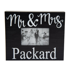 Monogrammed Wooden Picture Frame
