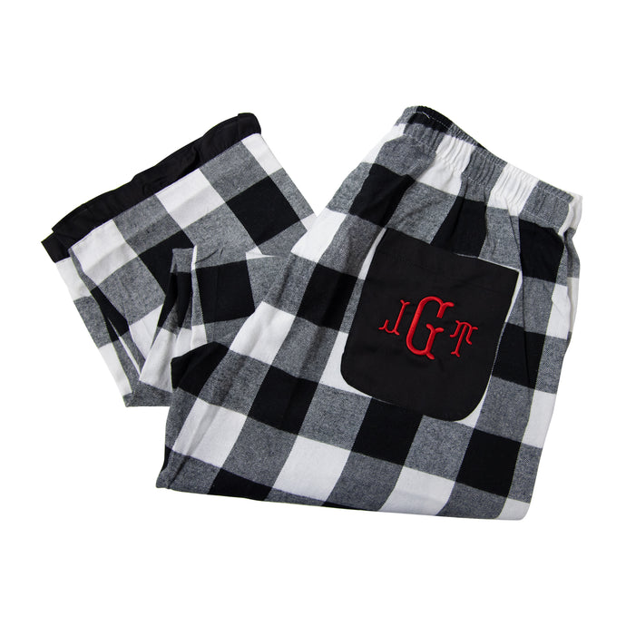 Our Monogrammed Buffalo Check Lounge Pants