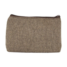 Our Brown Herringbone Cosmetic Pouch