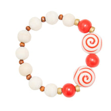 Front view of our Red Ceramic Bead Bracelet