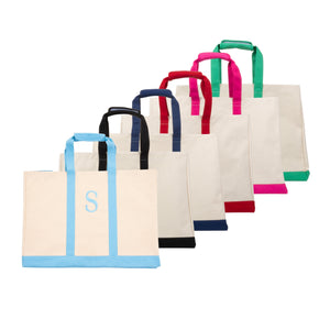 Monogrammed image of our Canvas Big Totes