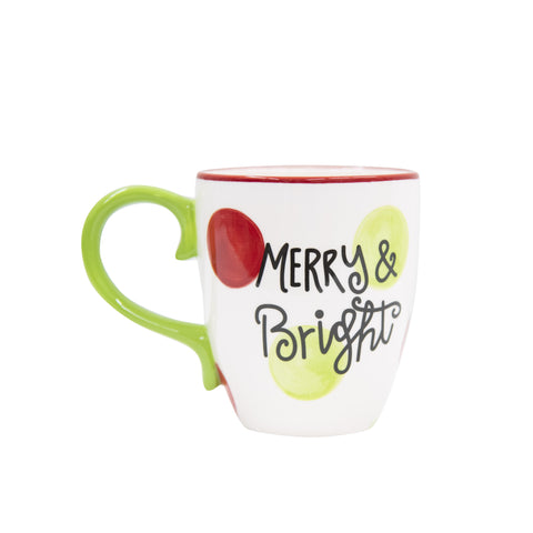 Set of 3 Phrased Holiday Ceramic Coffee Mugs