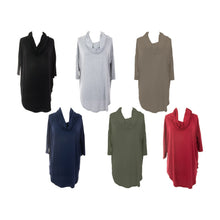 Load image into Gallery viewer, Front view of our Cowl Neck Slouch Shirts
