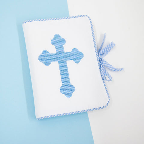 Lifestyle view of our Blue Christening Photo Album
