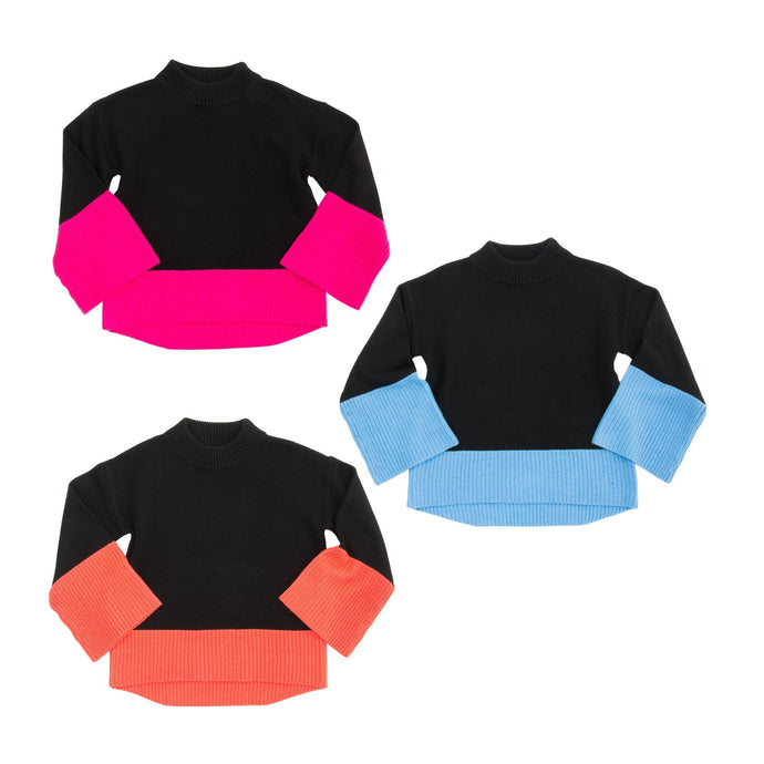 Front view of our Color Block Sweaters