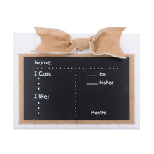 All About Me Milestones Chalkboard