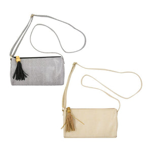 Front view of both of our Bamboo Classy Crossbody Handbags