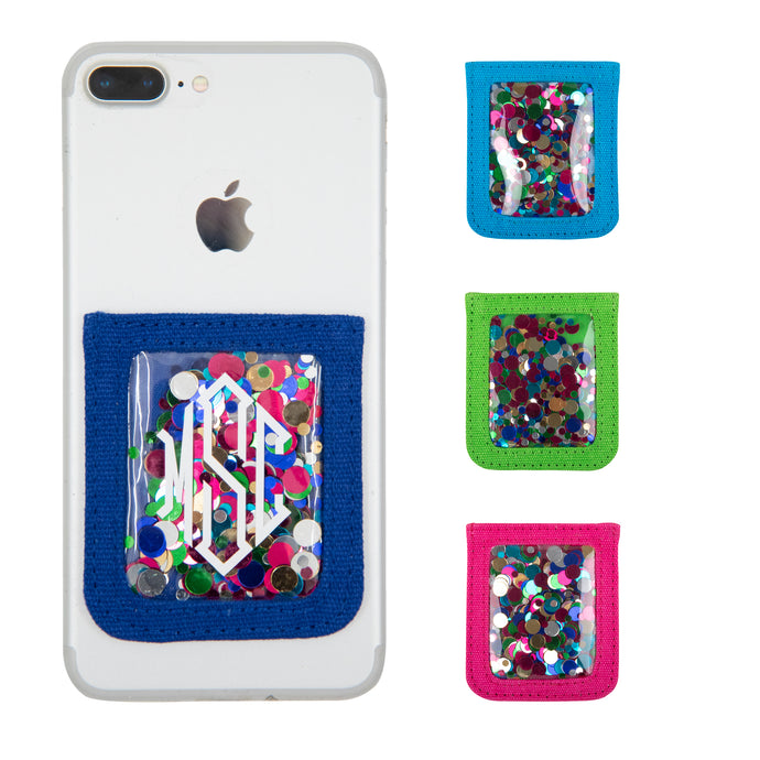 Monogrammed Confetti Cell Phone Pockets
