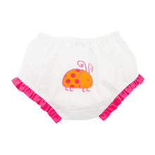 Front view of our Orange Ladybug Diaper Cover