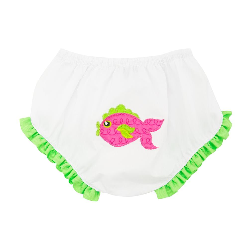 Front view of our Pink Fish Diaper Cover
