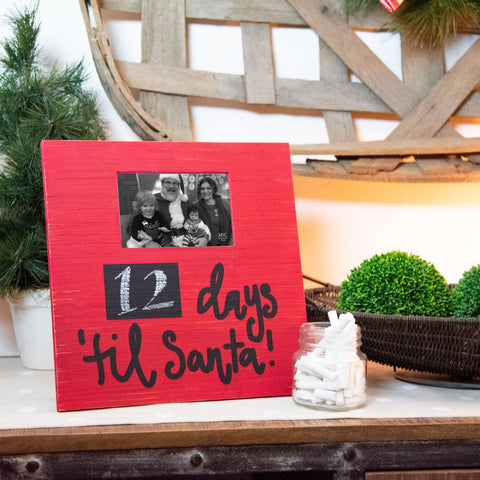 Lifestyle view of our Days Til Santa Frame