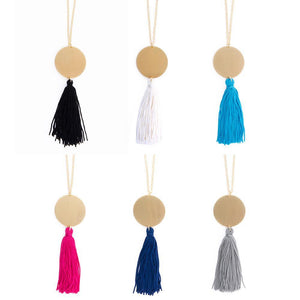 Collection of Disc Tassel Necklace