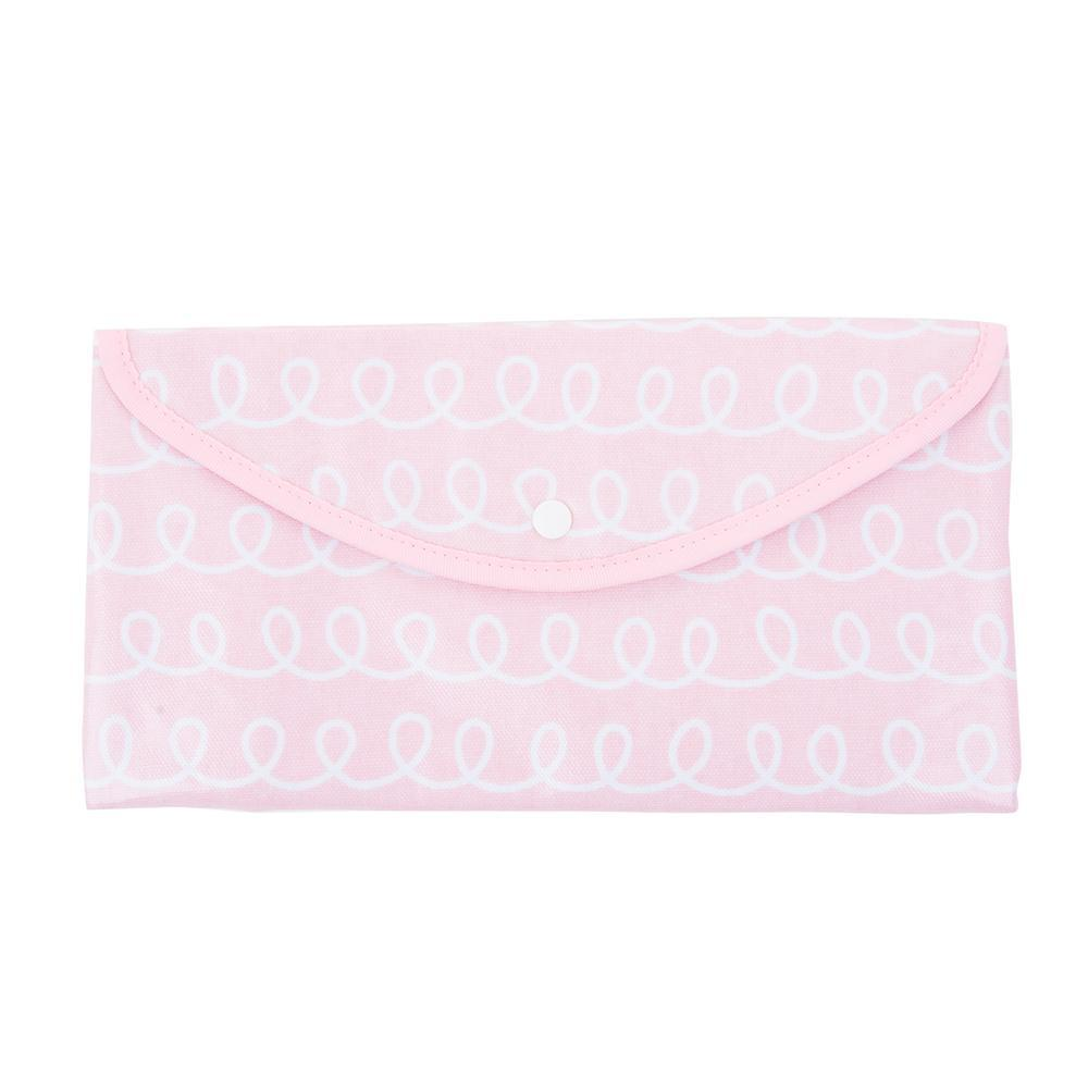Front view of our Pink Swirl Vinyl Envelope Pouch