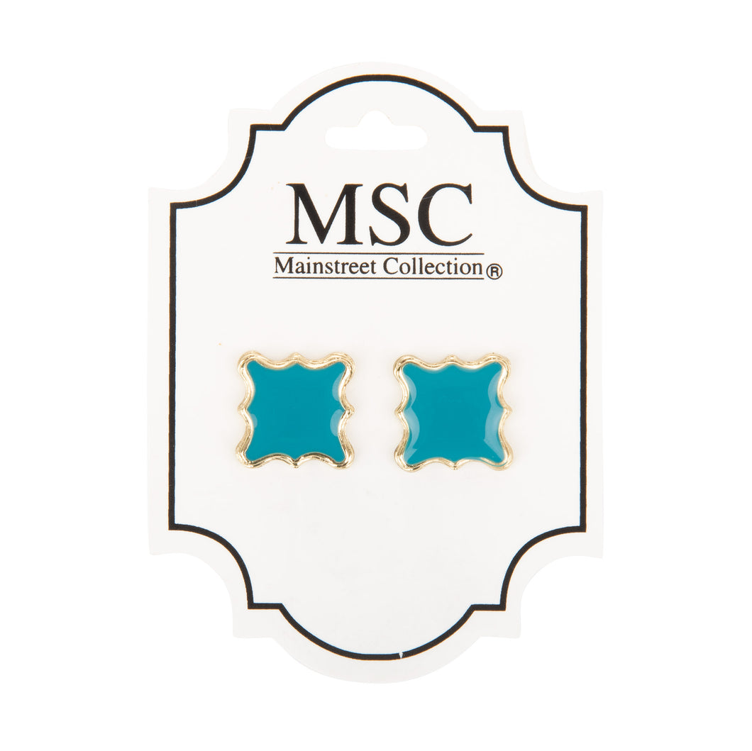Enamel Quatrefoil Earrings