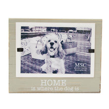 "Front view of our ""Home is where the Dog is"" Block Frame"