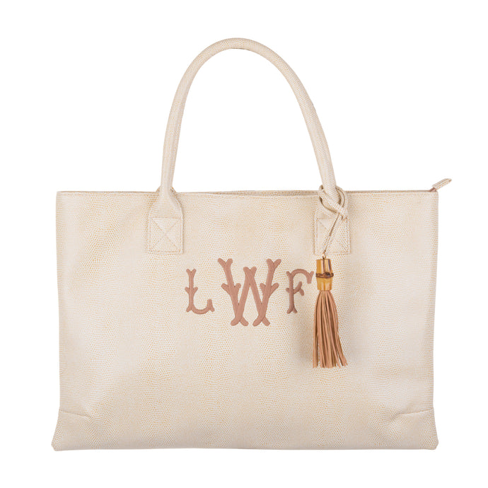 Monogrammed Fall Lizard Handbag