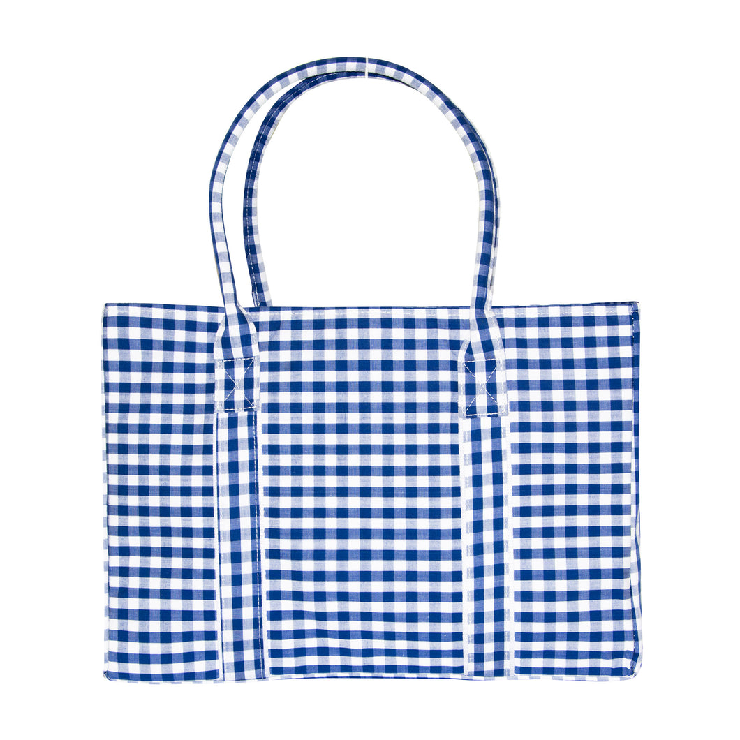 Blue Gingham Diaper Bag